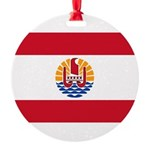 French Polynesia.jpg Round Ornament