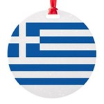 Greece.jpg Round Ornament