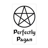 """Perfectly Pagan"" Rectangle Decal"