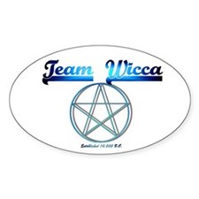 """Team Wicca"" Oval Decal"