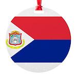 Sint Maarten.jpg Round Ornament