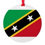 Saint Kitts and Nevis.jpg Round Ornament