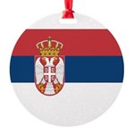 Serbia.jpg Round Ornament