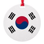 South Korea.jpg Round Ornament