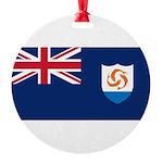 Anguilla.jpg Round Ornament