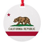 California.jpg Round Ornament