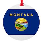 Montana.jpg Round Ornament