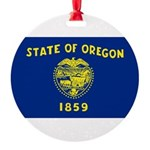 Oregon.jpg Round Ornament