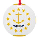 Rhode Island.jpg Round Ornament