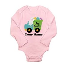 Personalized 1st Easter Long Sleeve Infant Bodysui