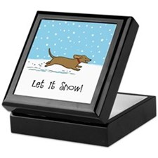 Dachshund Let it Snow Keepsake Box