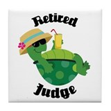 Retired Judge Gift Tile Coaster