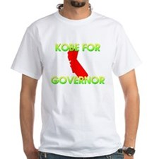 White Kobe For Governor T-Shirt