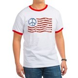 Peace Sign American flag Tee