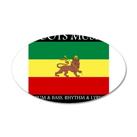 Roots Music Lion of Judah Ethiopia Flag 20x12 Oval