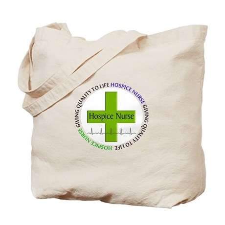 hospice nurse giving qulaity life 2.PNG Tote Bag