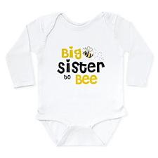 Big Sister to Bee Long Sleeve Infant Bodysuit