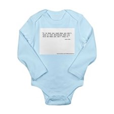 """""""It's what you read"""" Wilde Long Sleeve Infant Body"""