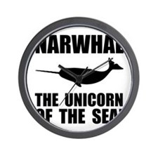 Narwhal Unicorn Wall Clock