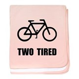 Two Tired Bike baby blanket