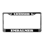 Licensed Embalmer Gift License Plate Frame