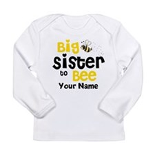 Big Sister to Be Personalized Long Sleeve Infant T
