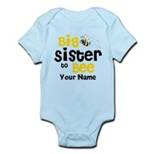 Big Sister to Be Personalized Infant Bodysuit