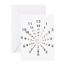 OYOOS ClockNumbers design Greeting Card