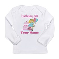 Birthday Girl Blond Long Sleeve Infant T-Shirt