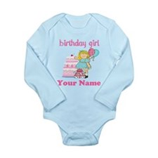 Birthday Girl Blond Long Sleeve Infant Bodysuit