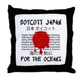 Boycott Japan Throw Pillow