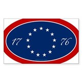 13-star 1776 Oval Decal