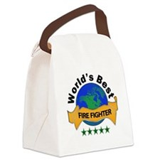 Cute World's greatest fire fighter Canvas Lunch Bag