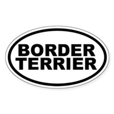 Border Terrier Oval Decal