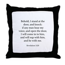 Revelation 3:20 Throw Pillow