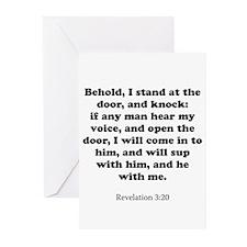 Revelation 3:20 Greeting Cards (Pk of 20)