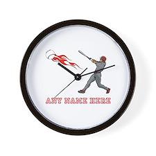 Personalized Baseball Wall Clock