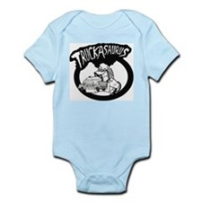 TruckAsaurus logo Infant Creeper