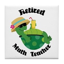 Retired Math Teacher Gift Tile Coaster