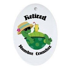 Retired Number Cruncher Gift Ornament (Oval)