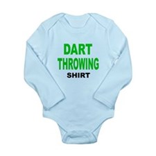 DART THROWING SHIRT .png Long Sleeve Infant Bodysu