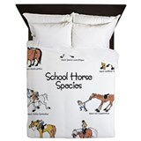 School Horse Species Queen Duvet