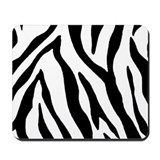 Zebra Striped Mousepad