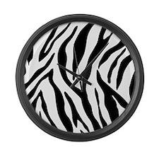 Zebra Stripes Large Wall Clock