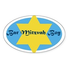 Bar Mitzvah Boy Oval Decal