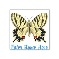 Personalized Butterfly Square Sticker 3