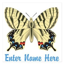 Personalized Butterfly 5.25 x 5.25 Flat Cards
