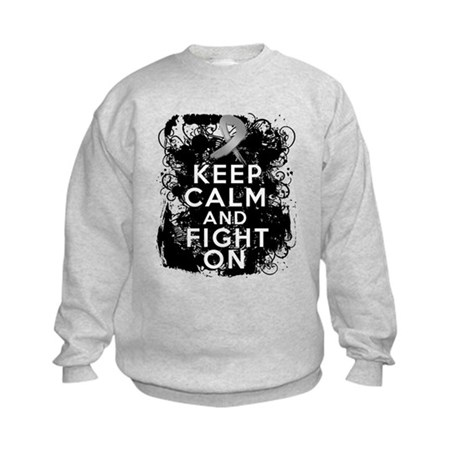 Diabetes Keep Calm Fight On Kids Sweatshirt