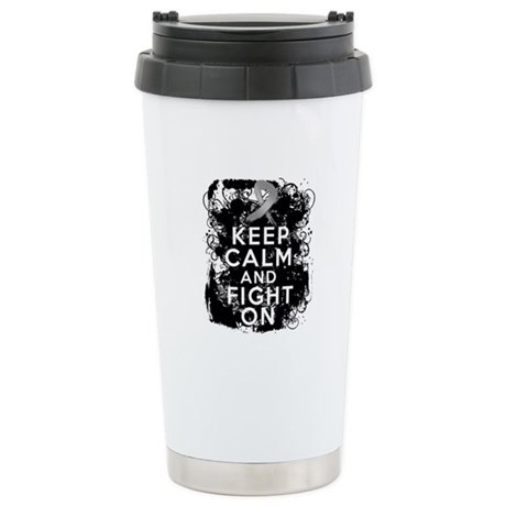 Diabetes Keep Calm Fight On Ceramic Travel Mug