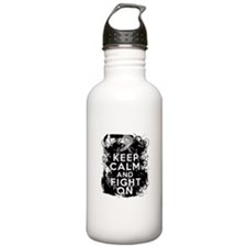 Diabetes Keep Calm Fight On Water Bottle